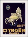 Citroen Framed Giclee Print by Marcello Nizzoli