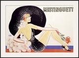Mistinguett Framed Giclee Print by  Zig (Louis Gaudin)