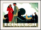 Edinburgh: Mons Meg, LNER Poster, circa 1935 Framed Giclee Print by Frank Newbould