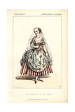 Mme. Marguerite Ugalde As La Tonelli at the Opera Comique Giclee Print by Alexandre Lacauchie