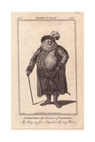 Edward Shuter As Falstaff in Henry IV Part 2 Giclee Print by J. Parkinson