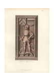 Knight in Armor From the 15th Century with Heraldic Shield And Helmet Giclee Print by Jakob Heinrich Hefner-Alteneck