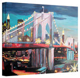 'New York City - Manhatten Bridge' Gallery-Wrapped Canvas Stretched Canvas Print by Markus Bleichner
