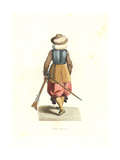 Musketeer From French Flanders, 17th Century Giclee Print by Edmond Lechevallier-Chevignard