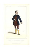 Couderc As Lord Evendale in Le Nabab at the Opera Comique Giclee Print by Alexandre Lacauchie