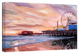 'Santa Monica Pier at Dusk' Gallery-Wrapped Canvas Stretched Canvas Print by Markus Bleichner