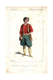 Bataille in the Role of Peters (Peter the Great) in L'Etoile Du Nord Giclee Print by Alexandre Lacauchie