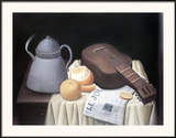 Still Life with Newspaper Posters by Fernando Botero