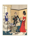 Fashionable Women at a Tea Party From Art, Gout, Beaute 1923 Giclee Print
