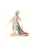 French Woman in Ballet Costume, 17th Century Giclee Print by Edmond Lechevallier-Chevignard