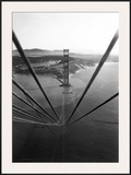 Construction of the Golden Gate Bridge Framed Giclee Print