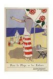 Family at the Beach Under Parasol From Art, Gout, Beaute 1923 Giclee Print