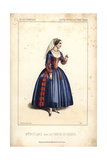 Mlle. Boulard in La Fiancee Du Diable at the Opera Comique Giclee Print by Alexandre Lacauchie
