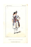 Ballet Dancer's Costume From Le Roi Des Halles at the Theatre Lyrique Giclee Print by Alexandre Lacauchie