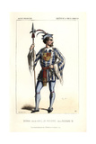 Bignon in the Role of Raoul De Foulques in Richard III Giclee Print by Alexandre Lacauchie
