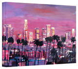'Los Angeles Golden Skyline' Gallery-Wrapped Canvas Stretched Canvas Print by Markus Bleichner