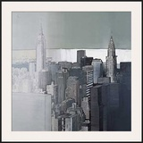 Chrysler and Empire State Buildings Prints by Joan Farré