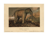 Deinotherium Giganteum, Large Prehistoric Relative of the Elephant Giclee Print by F. John