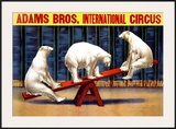 Adams Brothers Circus Framed Giclee Print