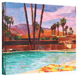'The Palm Springs Pool' Gallery-Wrapped Canvas Stretched Canvas Print by Markus Bleichner