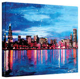 'Chicago Skyline at Dusk' Gallery-Wrapped Canvas Stretched Canvas Print by Martina Bleichner
