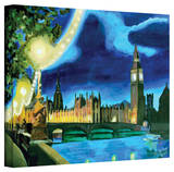 'London Big Ben and Parliament with Thames' Gallery-Wrapped Canvas Stretched Canvas Print by Martina Bleichner
