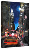 'New York Chrysler Building Street Scene' Gallery-Wrapped Canvas Stretched Canvas Print by Martina Bleichner