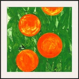Four Oranges Print by Donald Sultan