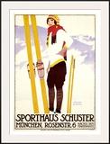 Sporthaus Schuster Framed Giclee Print by Johann B. Maier