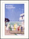 Bodensee, Fahrt Framed Giclee Print by Dietrich Bodman