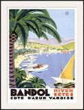 Bandol Framed Giclee Print by Roger Broders