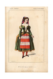 Mlle. Decroix in Les Trovatelles at the Opera Comique Giclee Print by Alexandre Lacauchie