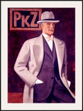 PKZ, Mens' Fashion Framed Giclee Print by Johann Arnhold
