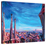 'Barcelona with Sagrada Familia' Gallery-Wrapped Canvas Stretched Canvas Print by Markus Bleichner