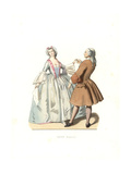 Dancing Master And Young Venetian Woman, 18th Century, Italy Giclee Print by Edmond Lechevallier-Chevignard