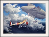 WWII, USN Curtiss F9C Sparrowhawk Framed Giclee Print by Paul Wollman
