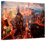 'Shanghai Skyline at Dusk' Gallery-Wrapped Canvas Stretched Canvas Print by Markus Bleichner