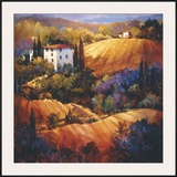 Evening Glow Tuscany Framed Giclee Print by Nancy O'toole