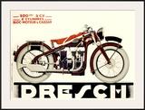 Dresch 1935 500CC Motorcycle Framed Giclee Print