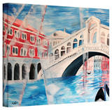 'Rialto Bridge' Gallery-Wrapped Canvas Stretched Canvas Print by Martina Bleichner