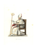 Spanish Bishop, 16th Century, From a Painting by Murillo Giclee Print by Edmond Lechevallier-Chevignard