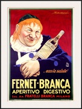 Fernet-Branca Framed Giclee Print by Achille Luciano Mauzan