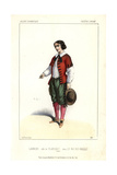 Laurent As Planchet in Le Roi Des Halles at the Theatre Lyrique Giclee Print by Alexandre Lacauchie