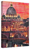 'Rome Eternal City with Vatican' Gallery-Wrapped Canvas Stretched Canvas Print by Martina Bleichner