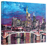 'Frankfurt Mainhattan Skyline' Gallery-Wrapped Canvas Stretched Canvas Print by Martina Bleichner