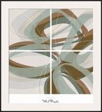 Mint Ripple Prints by  Ahava