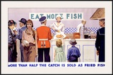 Eat More Fish Framed Giclee Print by Charles Pears