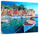'Tranquility of the Harbour of Portofino' Gallery-Wrapped Canvas Stretched Canvas Print by Markus Bleichner