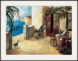 Perro y Bicicleta Prints by Didier Lourenco