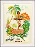 Maston Line, Tropical Abundance Framed Giclee Print by Frank Mcintosh
